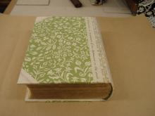 Brirish Wild Flowers, bound in half vellum with decorative paper sides.