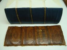 Removed spine and relined book.