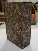 Double slipcase containing 19th century map. Lined with acid free paper.